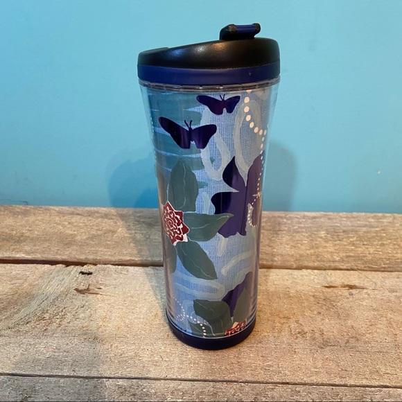 🛍3/$25 2007 Starbucks flower butterfly travel mug